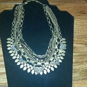 Stella & Dot gold Sutton layer necklace